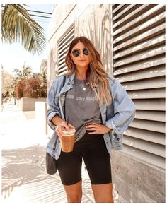 Trendy Summer Outfits, Summer Fashion Outfits, Cute Casual Outfits, Short Outfits, Summer Fashions, Casual Shorts Outfit, Fashion Dresses, Summer Shorts Outfits, Summer Fashion For Teens