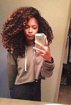 Fuck Yeah Curls Curls Curls. Curly, Ethnic, Mixed Hair. Selfie. Mirror Pic.