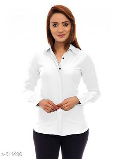Checkout this latest Shirts Product Name: *Stylish Poly Crepe Shirt* Sizes: S, M, L, XL Country of Origin: India Easy Returns Available In Case Of Any Issue   Catalog Rating: ★3.9 (1557)  Catalog Name: Ladies Polycrepe Shirts Vol 1 CatalogID_68475 C79-SC1022 Code: 253-611496-768