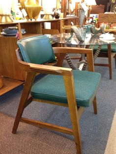Great Pair Of Gunlocke Chairs For The Library.