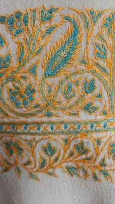 Vintage Paisley Kashmir Hand Embroidered Shawl