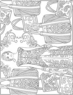 See More ESCAPES Fashion Art Coloring Book By Marty Noble