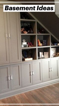 Staircase Storage, House Staircase, Basement Storage, Diy Storage, Cheap Storage, Staircase Remodel, Hallway Storage, Stairs With Storage, Storage Shelves