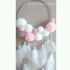 Ideas crochet kids room diy projects for 2019 Pom Pom Crafts, Yarn Crafts, Diy Y Manualidades, Pom Pom Rug, Creation Deco, Pinterest Diy, Diy Arts And Crafts, Crochet For Kids, Diy Crochet