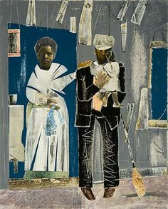 """Romare Bearden """"Untitled (The Family),"""" circa 1969 African American Artist, African Artists, Love Collage, Collage Ideas, Romare Bearden, Black Artists, Male Artists, Collage Artists, African History"""
