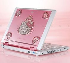 Hello Kitty Laptop  #pink #color #colours
