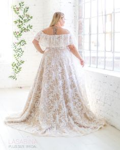 Beautiful plus size wedding dress from Lasabina Plus Size Bridal Plus Size Wedding, Tulle, Gowns, Bridal, Wedding Dresses, Skirts, Dress Ideas, Beautiful, Beauty