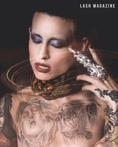 @lashmagazine x @lucie.clement  ----------------------------------- shot by @samirbahrir dressed by @nikkychicanot #makeup by @yoanperezmua with #studiomakeup products ---------------------------------- #lucieclement #samirbahrir #lashmagazine #editorial #fashion #saintlaurent #yvessaintlaurent #ysl @ysl #scarf @onauratoutvu #onauratoutvu #ring #claw #gaga #ladygaga #americanhorrorstory #tattoos #tattoomodel #inkedgirls #h2oceanmodels @h2oceanmodels