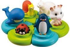 Puzzle de bain Sophie la girafe® - Bath Puzzle with 6 animal squirters!