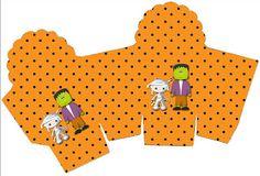 Halloween Menino – Kit Completo com molduras para convites, rótulos para guloseimas, lembrancinhas e imagens!  Fazendo a Nossa Festa