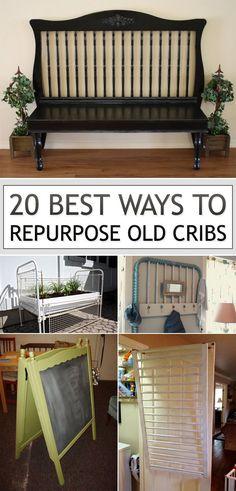 20 Best Ways to Repurpose Old Cribs Repurposed Furniture cribs Repurpose Ways Refurbished Furniture, Repurposed Furniture, Furniture Makeover, Cool Furniture, Antique Furniture, Bedroom Furniture, Furniture Stores, Modern Furniture, Timber Furniture