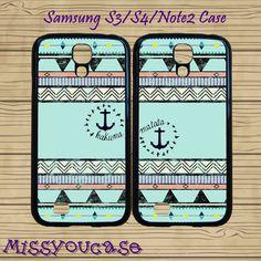Samsung galaxy S3,Samsung galaxy S4,Samsung Galaxy Note2 Case,cute Samsung S3 Case,cute Samsung S4 Case,hakuna matata,best friends case.  by Missyoucase, $28.95