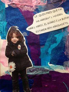 HIVERN - Material: Paper, paper de seda, fotos, tisores, cola - Nivell: Infantil P4 14/15