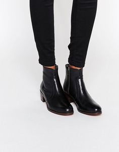 H+By+Hudson+Plath+Zip+Heeled+Leather+Ankle+Boots