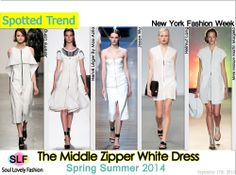 The Middle Zipper White #Dress #Fashion Trend for Spring Summer 2014 #Spring2014 #trends