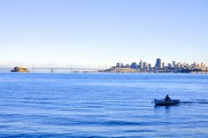 sea, city, skyline, ocean