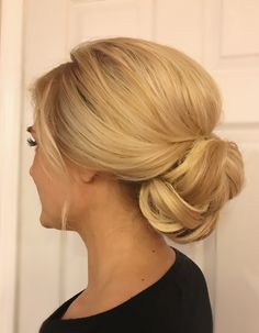 Bridal Updo By @shelbywhite_hmu, low bun, wedding hair
