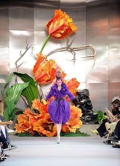 dior. love the parrot tulips! oh, and the dress is nice, too.
