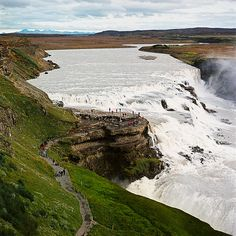 This is one of the most amazing places I've ever been.  Gulfoss, Iceland