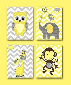 Baby Girl Nursery Print Baby Room Decor Monkey by artbynataera