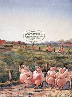 Schweine-MARUNDE | Cartoons & Illustrationen von Wolf-Rüdiger Marunde