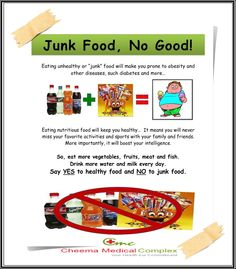 Say Yes to #Healthy #Food and No to #Junk Food