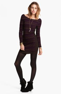 Free People 'Cozy Cabin' Sweater Dress available at #Nordstrom