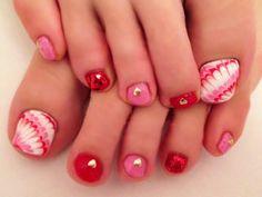 Toe nails Pedicure Designs, Toe Nail Designs, Nails Design, Cute Pedicures, Painted Toes, Cute Toes, Toenails, Toe Nail Art, Toe Rings