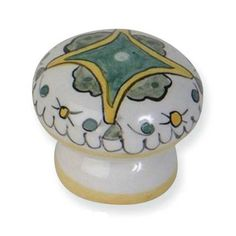 "Inspired by distinctive pottery in the Tuscan region of Italy-select from 18 styles of hand-painted ceramic knobs. Diameter (inch): 1-3 4 Diameter (mm): 44 Finish: White Hole Spacing: Single hole Length: 1-3 4 Materials: Ceramic Mounting Hardware: 8 32 thread - 1"" and 1-1 2"" long screws included Projection: 1-1 2 Style: Tuscan and French country Type: Knob Width: 1-3 4"