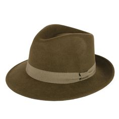 Mens Ladies Fedora Hat 100% Wool Felt Made In Italy Handmade With Grosgrain  Band  f57bfbe4d482