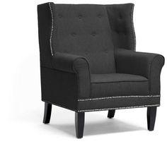 Wholesale Interiors BH-63708-Grey-CC Kyleigh Gray Linen Modern Arm Chair - Each