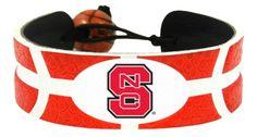 North Carolina State Wolfpack Team Color Basketball Bracelet Z157-7731400915