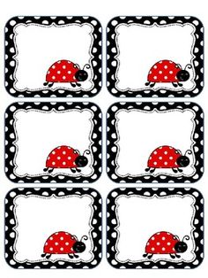 This packet includes editable ladybug labels. You may print these on cardstock or full label sheets as they do not fit a certain size. This is ...