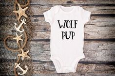 Hey, I found this really awesome Etsy listing at https://www.etsy.com/listing/268105877/wolf-pup-onesiewolf-pupbaby-wolf