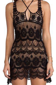 beautiful  slinky little Crochet dress