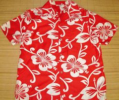 Mens Vintage 60's Malihini Mod Hibiscus Hawaiian by thehanashirtco