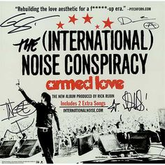 The [International] Noise Conspiracy, Armed Love - Autographed