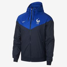 Nike Sportswear FFF Windrunner Men's Jacket offers off-pitch style and team pride. It's based on the legendary chevron design, which has defined the Windrunner look for decades, with updated color blocking and a durable design. Nike Windrunner, Windrunner Jacket, Nike Clothes Mens, Football Jackets, Revival Clothing, Track Suit Men, Polo T Shirts, Nike Outfits, Nike Sportswear