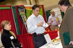 Product Center Director Chris Peterson and John Spillson of Spillson's Rice Pudding