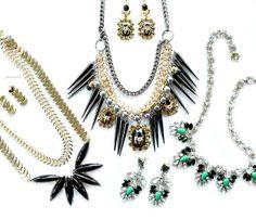 NIEUW | Sieraden sets  sieraden, jewelry, goud, shourouk, earrings, ketting, oorbellen, spikes