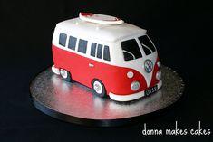 VW Van with surfboard
