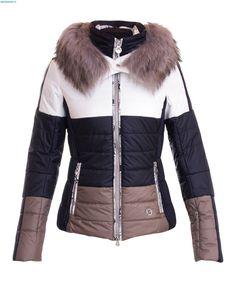 Sportalm Damen Huntsville Jacke mit Kapuze und Pelz – Offwhite