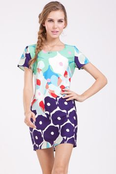 Colored-Floral-Print-Dress.jpg 600×900 пикс