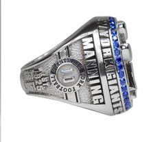 Eli Manning's name on the Giants' Super Bowl XLVI ring #MVP