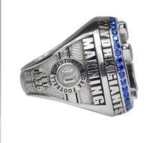 Eli Manning's name on the Giants' Super Bowl XLVI ring #MVP