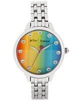 Betsey Johnson Women's Silver-Tone Bracelet Watch 35mm BJ00411-01