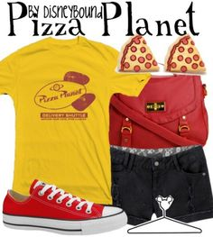Disney Outfit: Behold... PIZZA PLANET! YES.