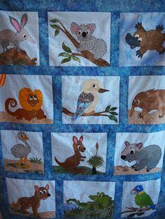 Australian animals quilt | Quilts: Cotton (Pieced, Appliqued, Etc ... : australian quilts for sale - Adamdwight.com