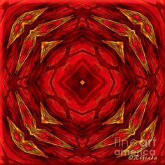 Red Involvements - Abstract Art by Giada Rossi. Fine art prints and posters for sale.  #giadarossi #abstractart #digitalart