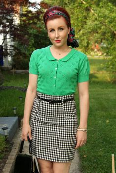 Thrift and Shout: Cute Outfit of the Day: Gingham and Floral